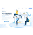global online research concept vector image