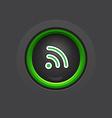 glossy dark wifi button vector image