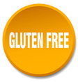 gluten free orange round flat isolated push button vector image vector image