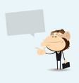 gorilla businessman with message vector image