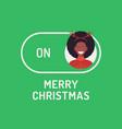 greeting christmas card creative merry christmas vector image vector image