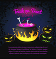 greeting halloween holiday template vector image vector image
