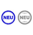 grunge neu textured stamps vector image vector image
