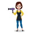 hairdresser woman in professional uniform vector image vector image