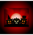 Halloween panel background vector image