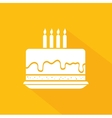 Happy birthday cake dessert vector image vector image