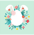 happy easter greeting card posteror banner with vector image