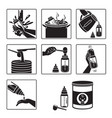 icons set of steps to preparing baby bottle vector image vector image