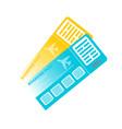 international passport with tickets air travel vector image