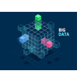 isometric abstract big data cube box data vector image
