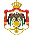Jordan Coat-of-Arms vector image