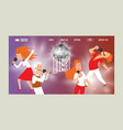 karaoke bar banner web design vector image