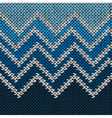 Knitted Stylized Geometric Pattern with Wave vector image vector image