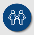 lesbian family sign white contour icon in vector image vector image
