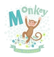 Letter M - Monkey vector image vector image