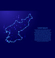 map north korea from the contours network blue vector image