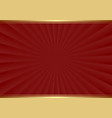 maroon background with golden border vector image vector image