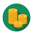 Money donation icon in flat style isolated on vector image vector image