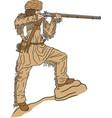 mountain man logo mascot vector image vector image