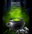 mysterious poison pot background vector image