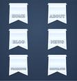 Navigation design elements vector image vector image