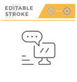 online communication editable stroke line icon vector image