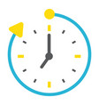 overtime flat icon business and clock vector image