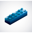 Piece of lego icon Game design graphic vector image vector image
