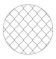 rabitz progressive protective mesh of thick vector image