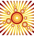 Retro Sun Background vector image