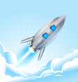 Rocket in Sky vector image vector image