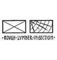 rough lumber in section material symbol other vector image vector image