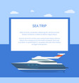 sea trip colorful banner vector image vector image