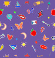 seamless pattern in doodle style love theme vector image vector image