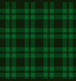 seamless pattern of green tartan vector image