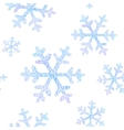 seamless pattern with falling snowflakes vector image vector image