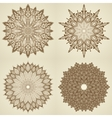 Set of four mandalas Beautiful flowers vector image vector image
