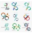 Set of percentage signs flat design vector image