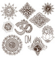 set ohm vector image vector image