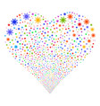 sun fireworks heart vector image vector image