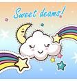 sweat dreams kawaii cartoon flat clothes sticker vector image vector image