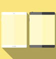 Tablet in flat style vector image vector image