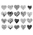 tattoo hearts vector image vector image