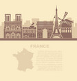 template leaflets with a map france and vector image