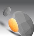 Textured geometric shape background vector image