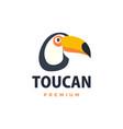 toucan flat logo icon vector image