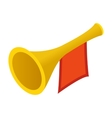Trumpet with red flag isometric 3d vector image vector image