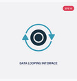 two color data looping interface icon from user vector image vector image