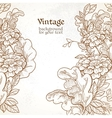 Vintage background with wild meadow flowers vector image vector image