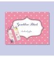 Vintage business card for handmade gifts maker vector image vector image